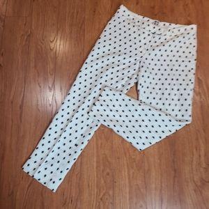 Anne Klein unlined linen cotton cropped pant